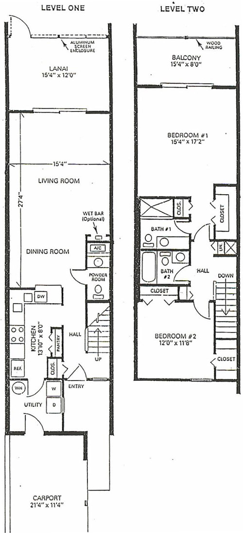 townhouse floorplan